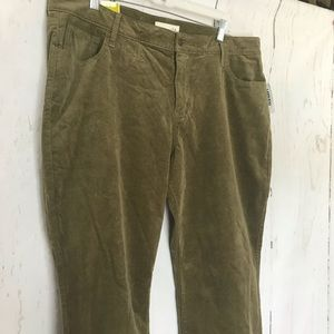 OLD NAVY olive bootcut corduroy pants